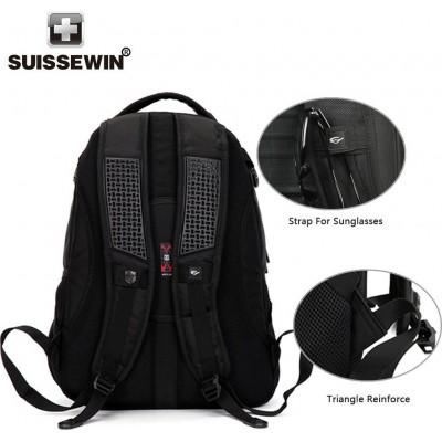 Σακίδιο πλάτης Suissewin with airflow system SN9810 Black
