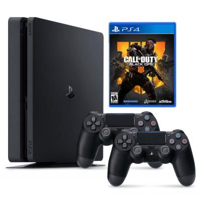 Sony PlayStation 4 Slim 1TB & Call of Duty Black Ops 4 & 2x DualShock 4