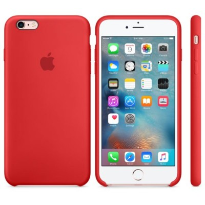 Premium Silicone Case Red iPhone 6s