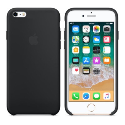 Premium Silicone Case Black iPhone 6s