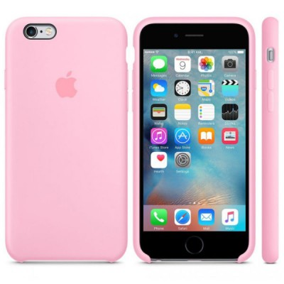 Premium Silicone Case Pink iPhone 6s
