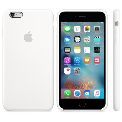 Premium Silicone Case White iPhone 6s