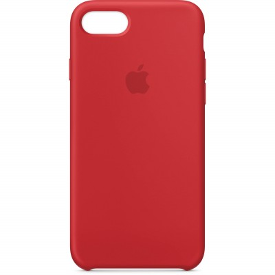 Premium Silicone Case Red iPhone 7/8