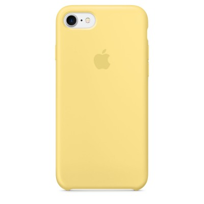 Premium Silicone Case Yellow iPhone 7/8