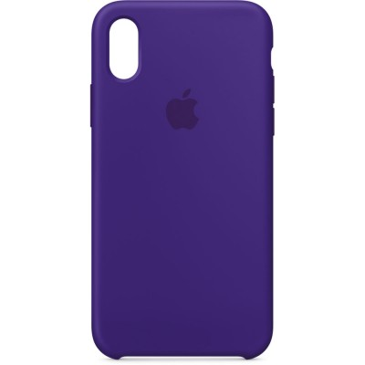 Premium Silicone Case Purple iPhone X/XS