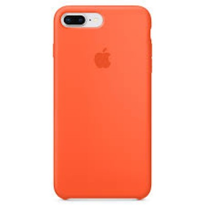 Premium Silicone Case Orange iPhone 7/8 Plus