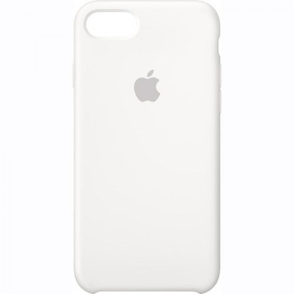 Premium Silicone Case White iPhone 7/8