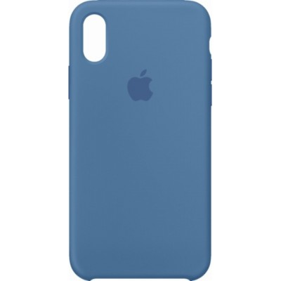 Premium Silicone Case Light Blue iPhone X/XS