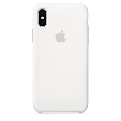 Premium Silicone Case White iPhone X/XS