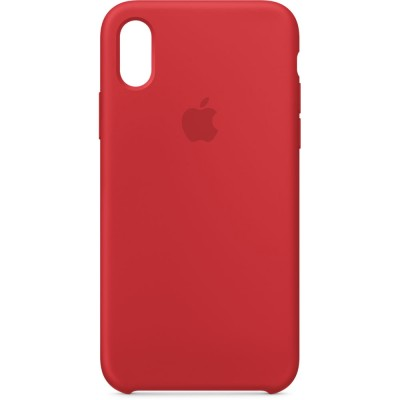 Premium Silicone Case Red iPhone X/XS