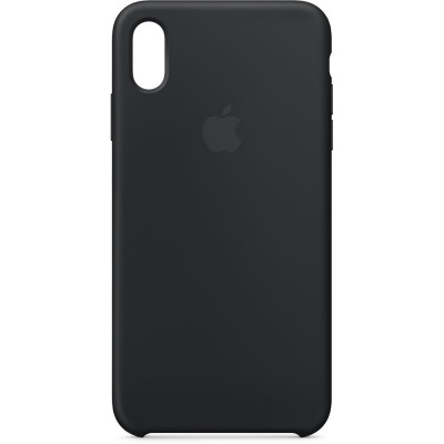 Premium Silicone Case Black iPhone XS Max