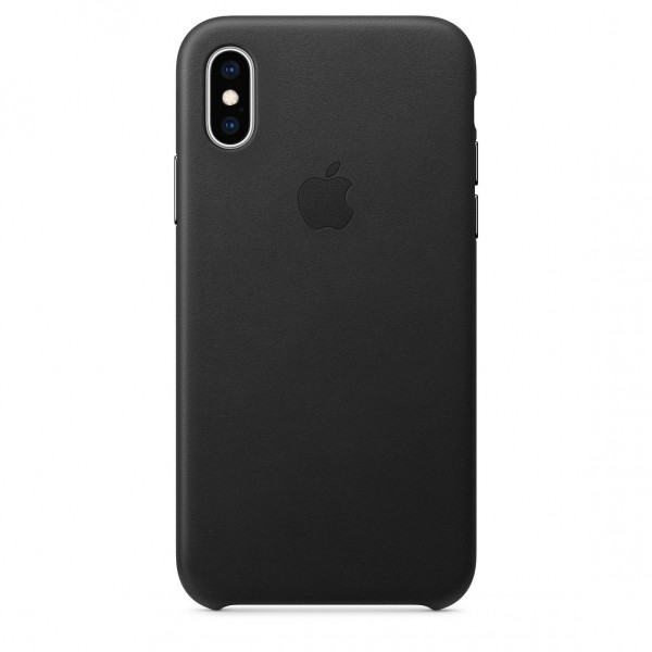 Apple Leather Case Black (iPhone X/XS)