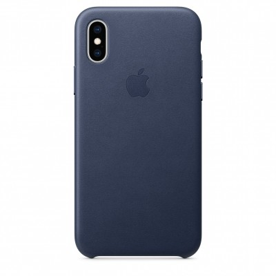 Apple Leather Case Midnight Blue (iPhone X/XS)