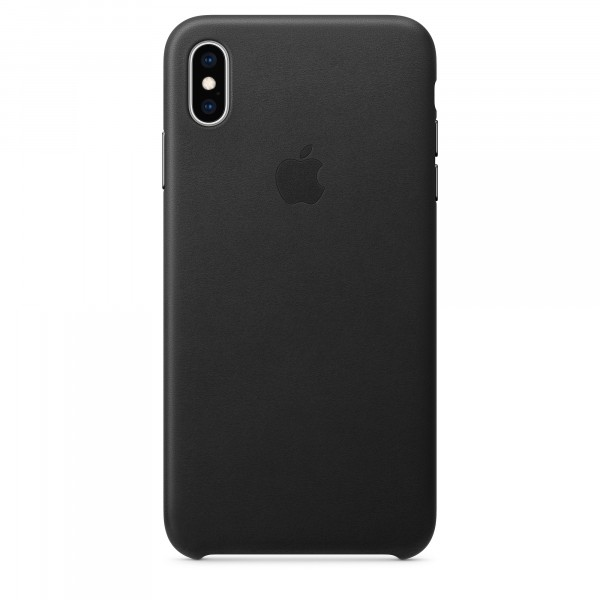 Apple Leather Case Black (iPhone XS Max)