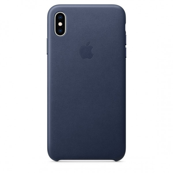 Apple Leather Case Midnight Blue (iPhone XS Max)