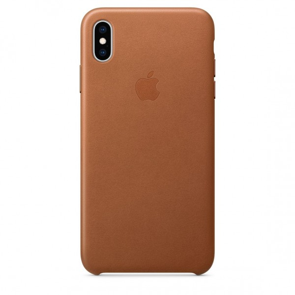 Apple Leather Case Saddle Brown (iPhone XS Max)