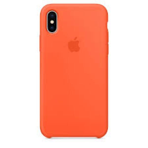 Premium Silicone Case Orange iPhone XR