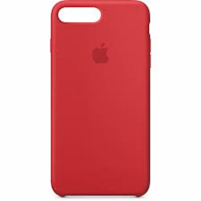 Premium Silicone Case Red iPhone 7/8 Plus