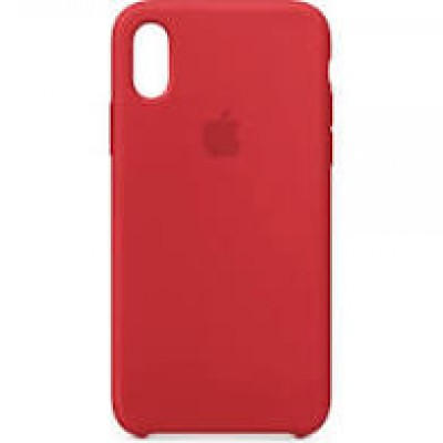 Premium Silicone Case Red iPhone XS Max