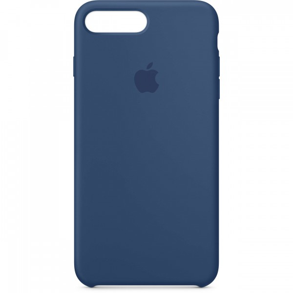 Premium Silicone Case Blue Cobalt iPhone 7/8 Plus