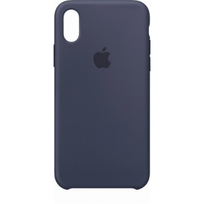 Premium Silicone Case Blue iPhone X/XS
