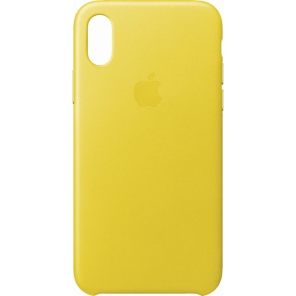 Premium Silicone Case Yellow iPhone X/XS
