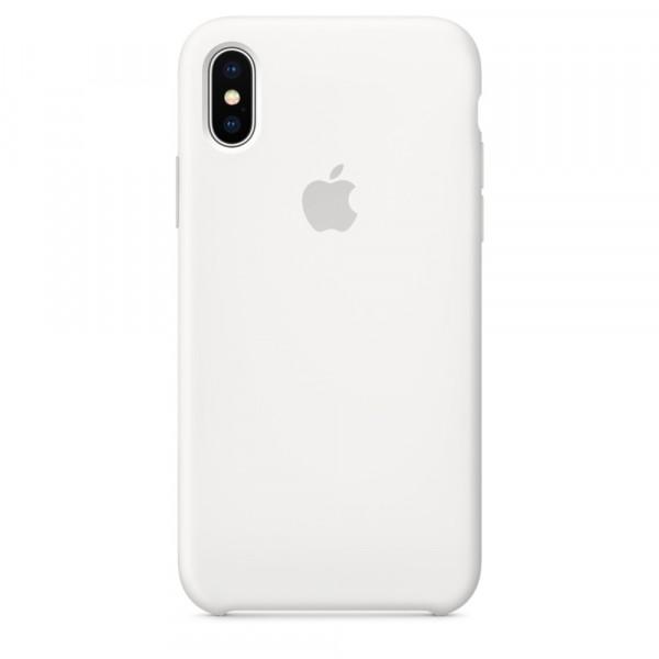 Premium Silicone Case White iPhone X/XS