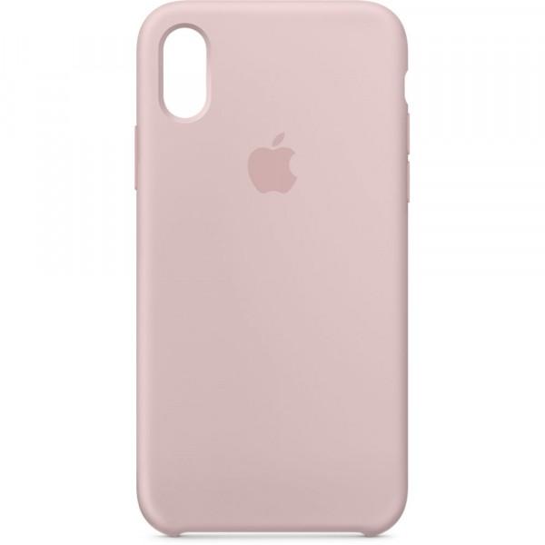 Premium Silicone Case Pink Sand iPhone X/XS