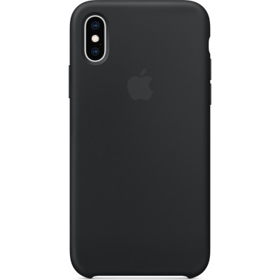 Apple Silicone Case Black (iPhone Xs)