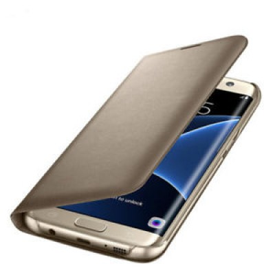 Case Flip Wallet Gold για Samsung Galaxy S7 Edge