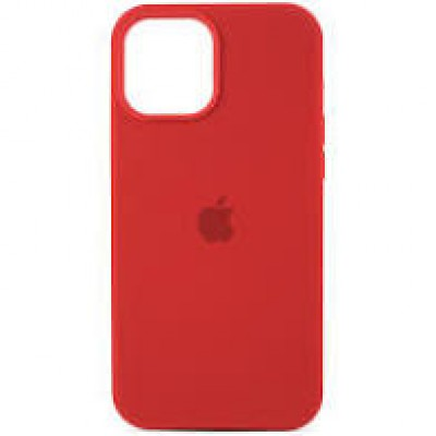Premium Silicone Case Red iPhone 12/12 Pro
