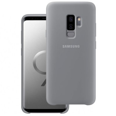 Premium Silicone Case Grey Galaxy S9 Plus