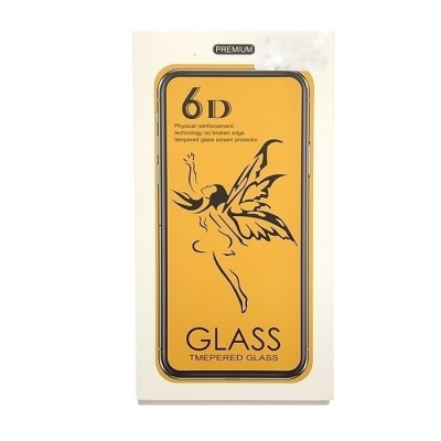 Tempered Glass 6D Full Cover Black για Huawei Mate 20 Lite