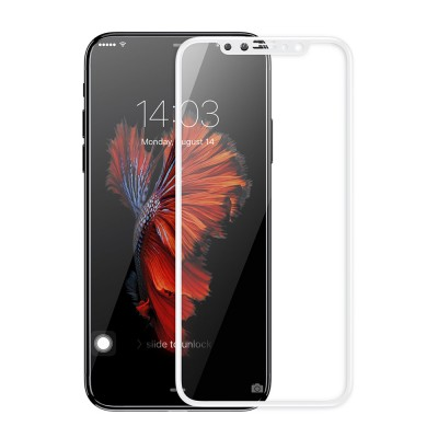 Tempered Glass 3D Full Cover White για iPhone X