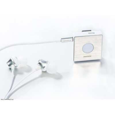 Remax Bluetooth Headset RB-S3 Sport Clip-On White/Silver