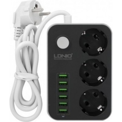 Ldnio Πολύπριζο 3 Θέσεων με USB και μήκος καλωδίου 1.6m SC3631