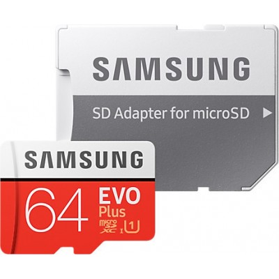 Samsung Evo Plus microSDXC 64GB U1 with Adapter (2020)