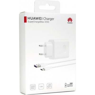 Huawei USB Type-C Cable & USB Wall Adapter Λευκό (CP84)