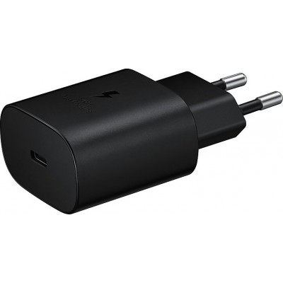 Samsung USB Type-C Cable & Wall Adapter Μαύρο (Travel Adapter 25W) Retail