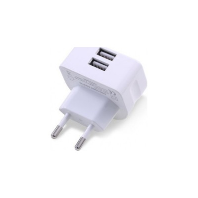 Remax 2x USB Wall Adapter Λευκό (RMT7188)