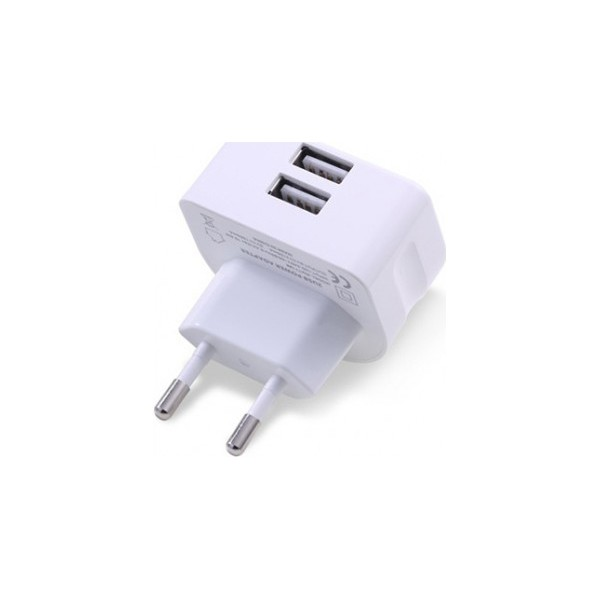Remax 2x USB Wall Adapter Λευκό (RMT7188)