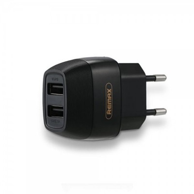 Remax 2x USB Wall Adapter Μαύρο (RP-U29 )