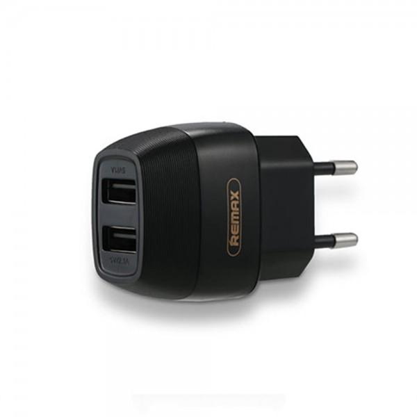 Remax 2x USB Wall Adapter Μαύρο (RP-U29 )