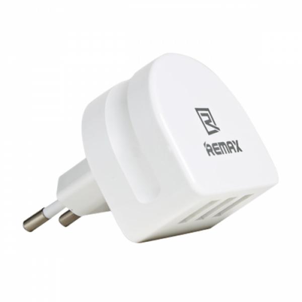 Remax 3x USB Wall Adapter Λευκό (RP-U31)