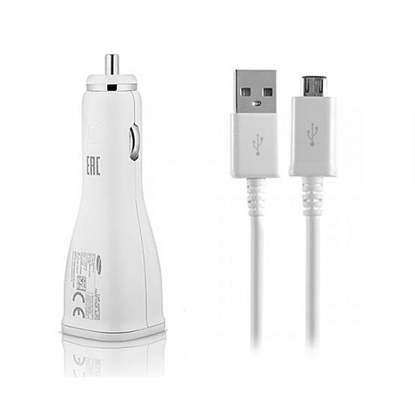 Samsung Car Charger (EP-LN920BB) & Micro USB (ECB-DU4EWE) Καλώδιο Bulk