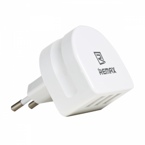 Remax 3x USB Wall Adapter Λευκό (RP-U31)