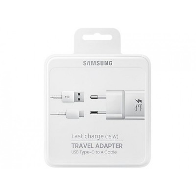 Samsung USB Type-C Cable & Wall Adapter Λευκό (EP-TA20EWE + EP-DN930) (Bulk)