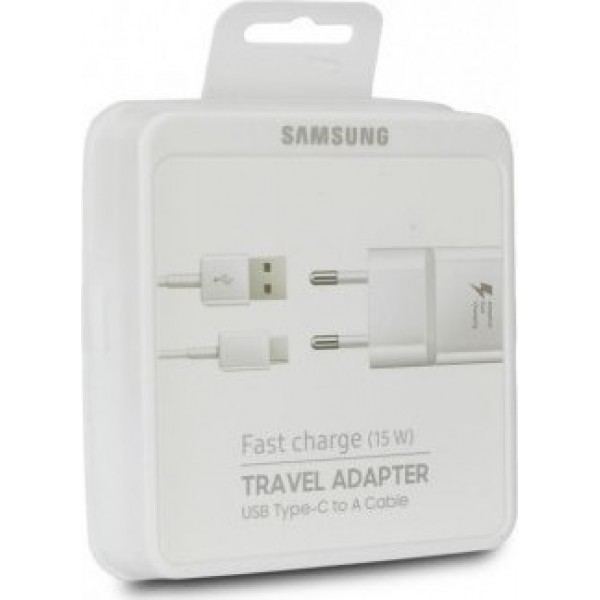 Samsung USB Type-C Cable & Wall Adapter Λευκό (EP-TA20EWE + EP-DW700CWE) Retail