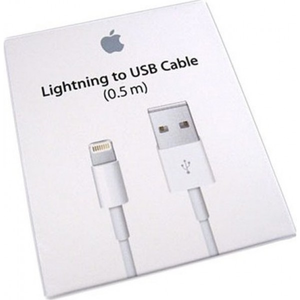 Apple USB to Lightning Cable White 0.5m (ME291)