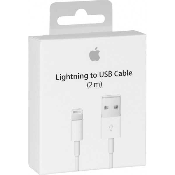 Apple USB to Lightning Cable White 2m Retail (MD819)